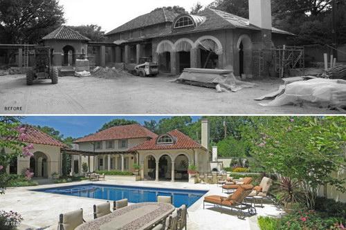 小区,房屋景观设计前后效果对比