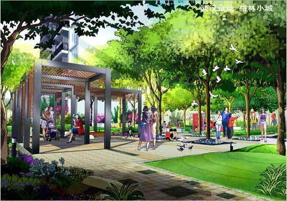 武汉金地格林小城景观设计