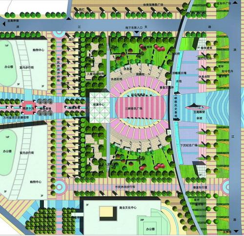 万州三峡移民广场设计——重庆风景园林网 重庆市风景