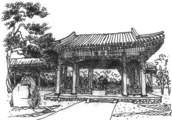 古典园林手绘平面图