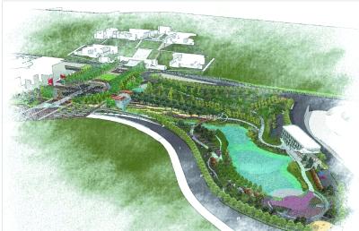 重庆茶园建湿地公园 供市民随意涂鸦