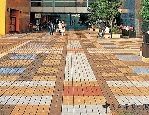 地面铺砖手绘效果图