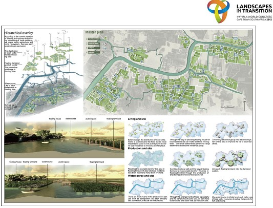 """重庆大学风景园林系学生""""49届ifla国际景观学生设计竞赛二等奖"""