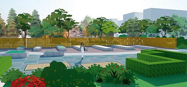 景观竹子手绘平面图