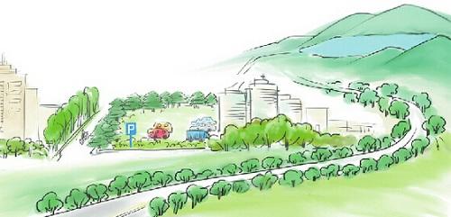校园空闲绿地设计平面图手绘
