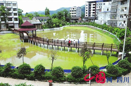 南充营山双林村排污池建成湿地公园
